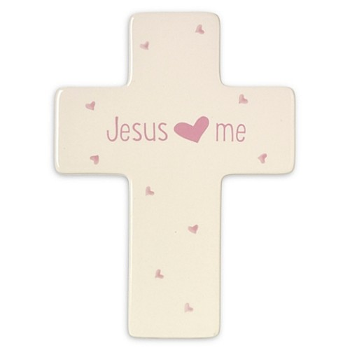 Precious Moments Jesus Loves Me Girl Cross