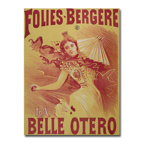 Bataille 'La Belle Otero 1894' Canvas Art - Multi