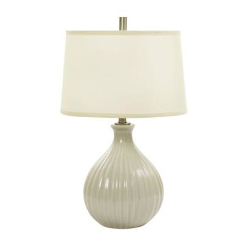 26 in. Coventry Crackle Ceramic Table Lamp with Ripple Design