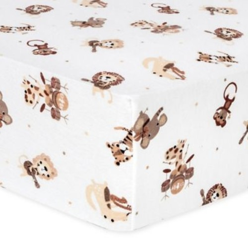 Trend Lab Safari Rock Band Flannel Fitted Crib Sheet