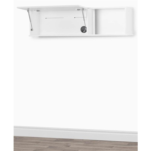 South Shore Wall Mounted Storage Unit in Pure White Finish