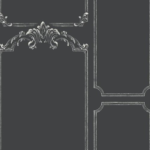 Sample Chalkboard Wallpaper in Black from the Magnolia Home Collection by Joanna Gaines