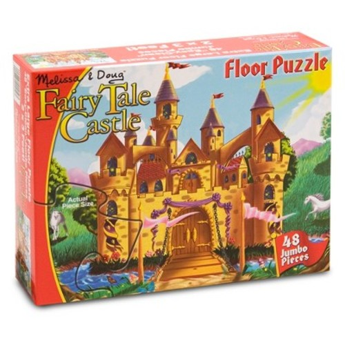 Melissa & Doug Fairy Tale Castle Jumbo Jigsaw Floor Puzzle (48pc, 2 x 3 feet)