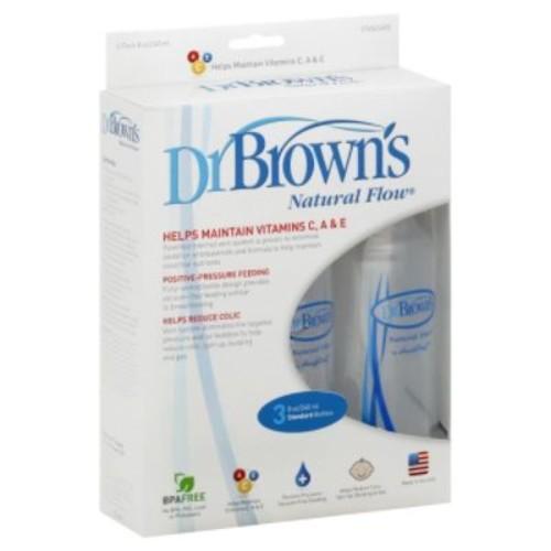Dr. Brown's Natural Flow Bottles, Standard, 8 oz, 3 bottles