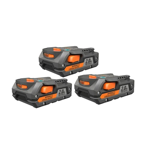 RIDGID 18-Volt HYPER Lithium-Ion Battery Pack 2.0Ah (3-Pack)