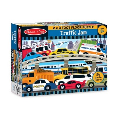 Melissa & Doug Traffic Jam Jumbo Jigsaw Floor Puzzle (24pc, 2 x 3 feet long)