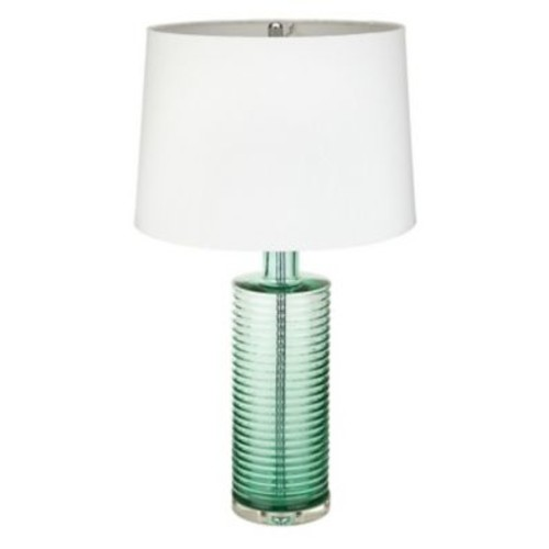 MagMileLamps Emerald Ribbed 26'' Table Lamp
