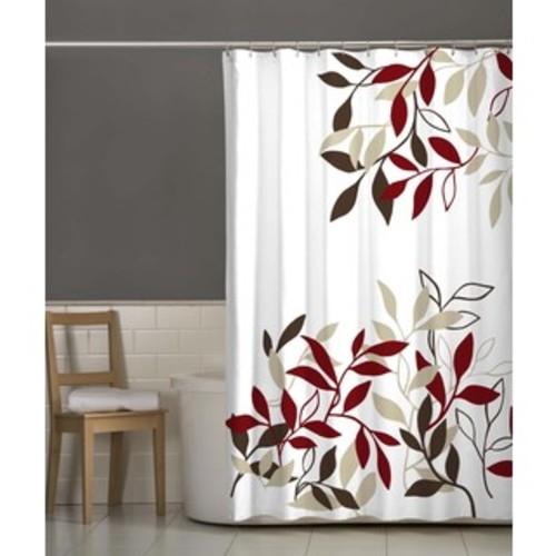 Sweet Jojo Designs Red/ Black Trellis Shower Curtain - Shower Curtain