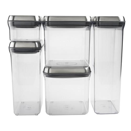 OXO SteeL 5-Piece Airtight Food Storage POP Container Set [5 Piece]