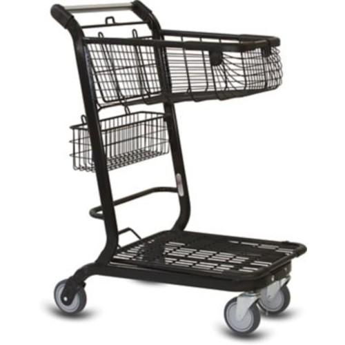 EXpress3500 Convenience Shopping Cart w/ Child Seat, Black