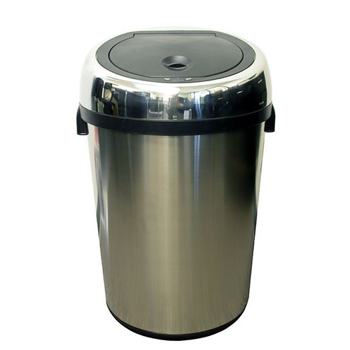 iTouchless 23 Gallon Large Commercial Size Stainless Steel Automatic Sensor Touchless Trash Can