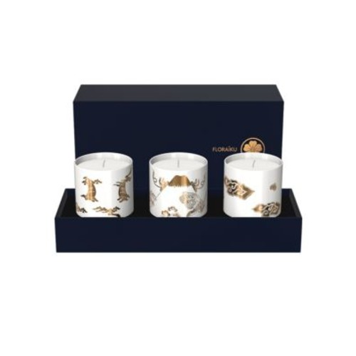 Cherry Blossom Shadowing Set of Three Scented Candle Tea Cups