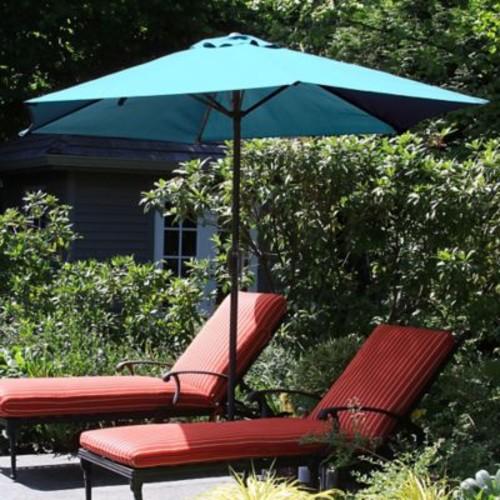 Pure Garden 9 Foot Aluminum Patio Umbrella with Auto Crank - Blue (M150005)
