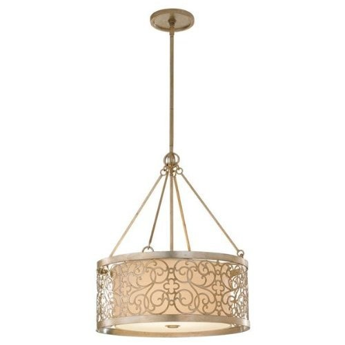 Feiss F2537/4SLP 4-Bulb Chandelier, Silver Leaf Patina Finish [15.5]
