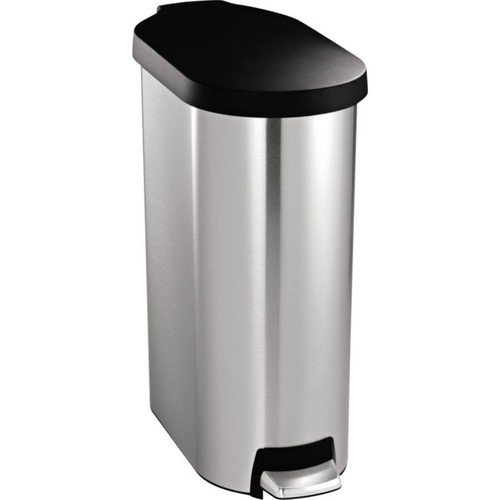 simplehuman Slim Step Can; Stainless Steel, 45 liter