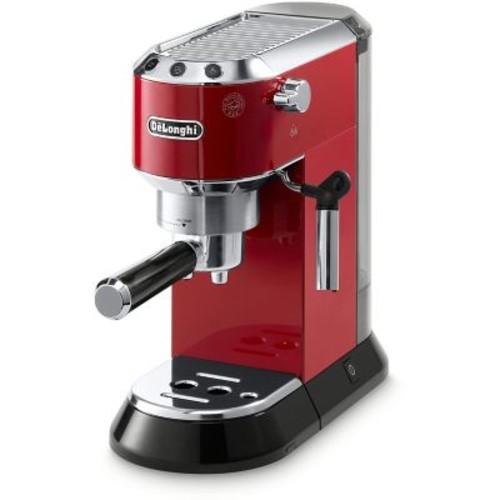 DeLonghi Dedica 15-Bar Pump Espresso Machine with Cappuccino System in Red
