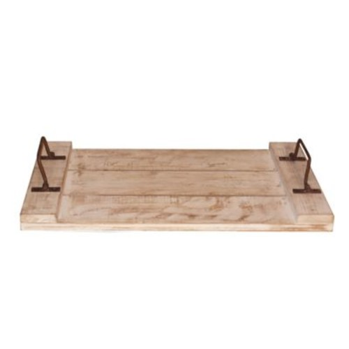 American Mercantile Wood Tray w/ Handles