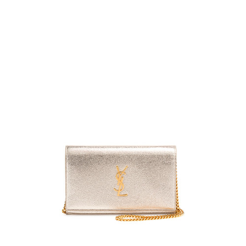SAINT LAURENT Monogram Medium Wallet-On-Chain Bag, G