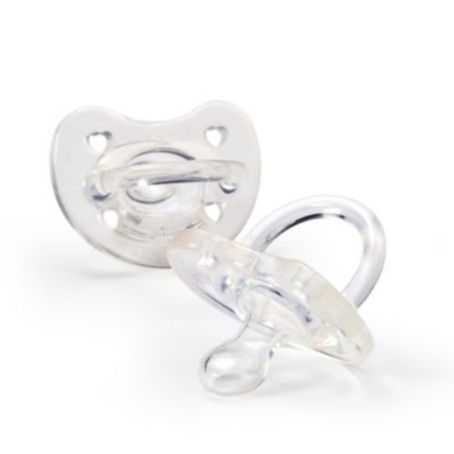 Chicco NaturalFit Soft Silicone Orthodontic Pacifier in Clear (2-Pack)