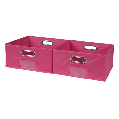 Niche Cubo 12 in. x 6 in. Pink Folding Fabric Bin (2-Pack)