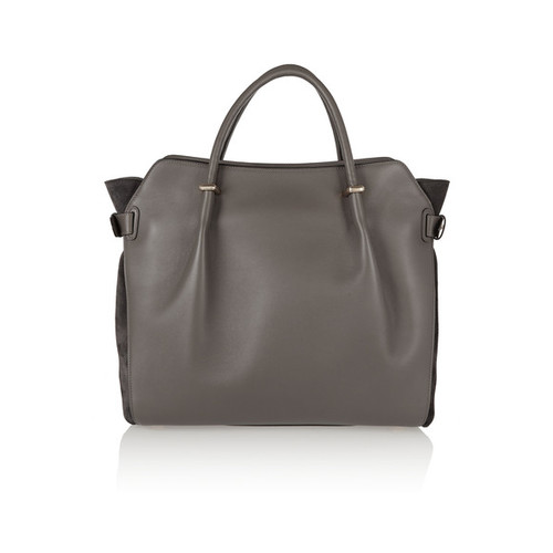 Marche medium leather and suede shoulder bag