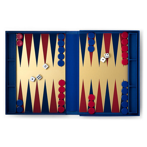 Backgammon Coffee Table Game, Blue