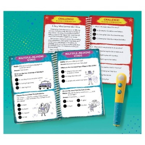 Educational Insights Hot Dots Jr. Let's Master Grade 3 Reading Set with Hot Dots Pen