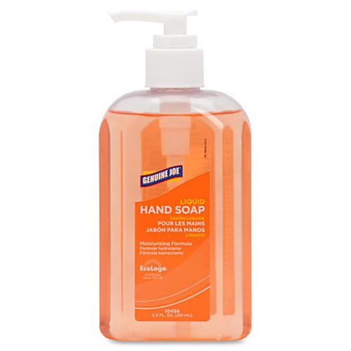 Genuine Joe Liquid Hand Soap - 8.5 fl oz (251.4 mL) - Pump Bottle Dispenser - Hand - Clear - Moisturizing, Bio-based, pH Balanced - 24 / Carton