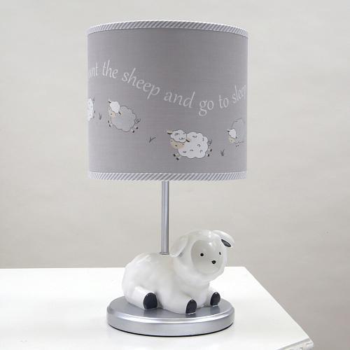 Lambs & Ivy(R) Signature Goodnight Sheep Gray/White Sheep Lamp with Shade and Bulb