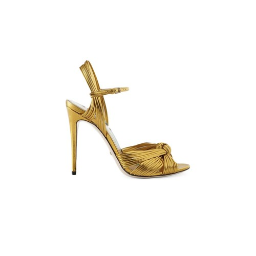 GUCCI Metallic Gold Sandal