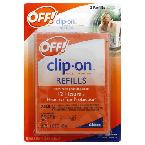 Off! Clip-On Mosquito Repellent Refills, 2 - 0.0016 oz (46 ml) refills [0.0032 oz]