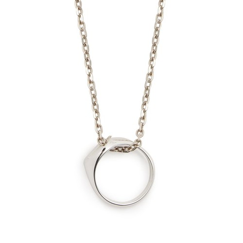 Three-in-one silver necklace