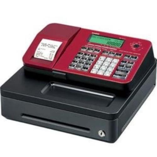 Casio SE-S100SC-RD Single Tape Thermal Print Cash Register, Red