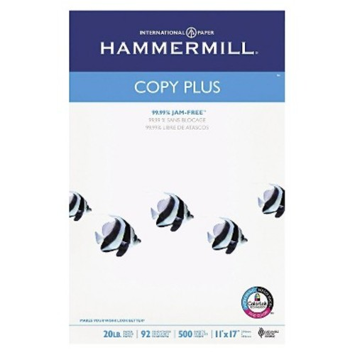 Hammermill Copy Plus Paper, 92 Brightness, 20 lb - White (500 Sheets Per Ream)