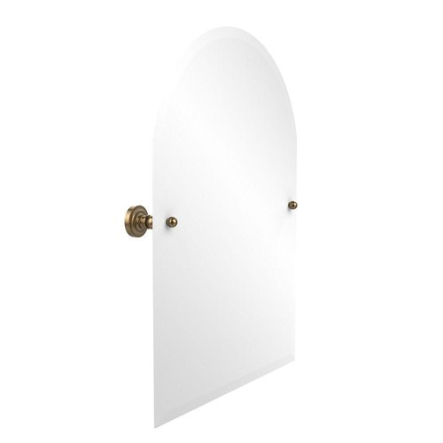 Allied Brass Dottingham Collection 21 in. x 29 in. Frameless Arched Top Single Tilt Mirror with Beveled Edge in Brushed Bronze