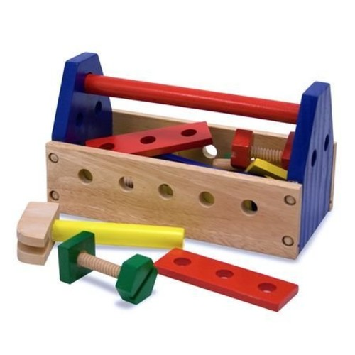 Melissa & Doug Take-Along Tool Kit Wooden Construction Toy (24 pcs)