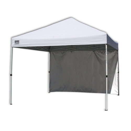 Quik Shade Commercial C100 Instant Canopy 10x10 with Wall Panel - White
