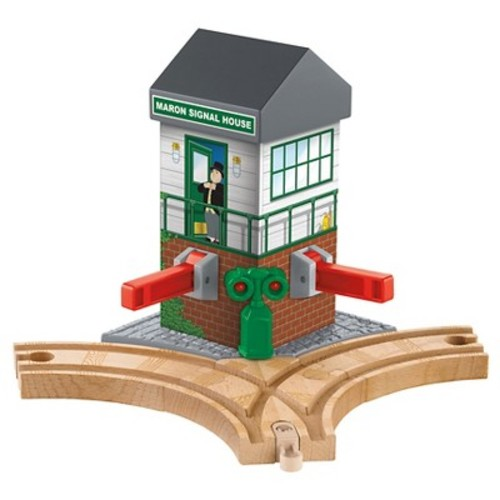 Fisher-Price Thomas & Friends Wooden Railway Maron Lights & Sounds Signal Shed Pack