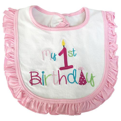 Rising Star Girls My First Birthday Bib