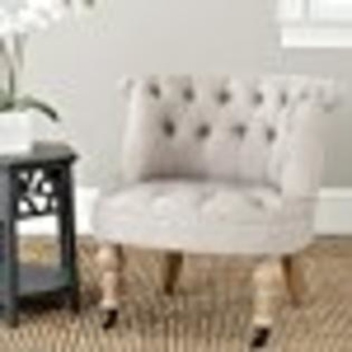 Safavieh Mercer Collection Carlin Tufted Chair, Taupe