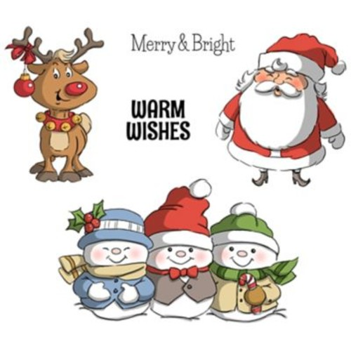 Art Impressions Christmas Cling Rubber Stamp Set 8
