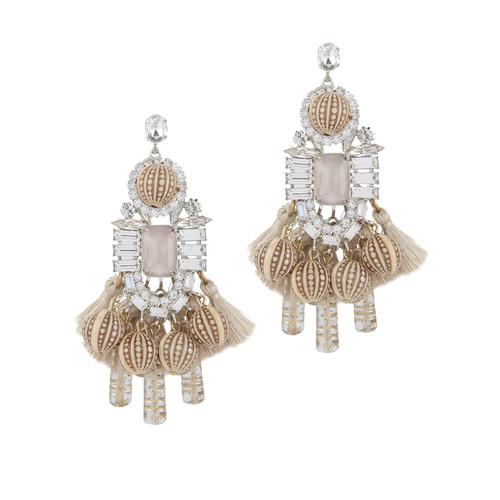 Olette Crystal Pendant Earrings