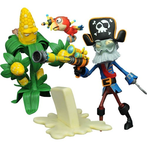 Diamond Select Toys - Plants vs. Zombies: GW2 Select Series Kernel Corn vs. Captain Deadbeard Set