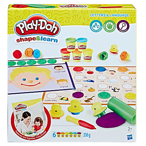 Play-Doh Education Shape And Learn Letters And Language Set, Assorted Colors, Case Of 4