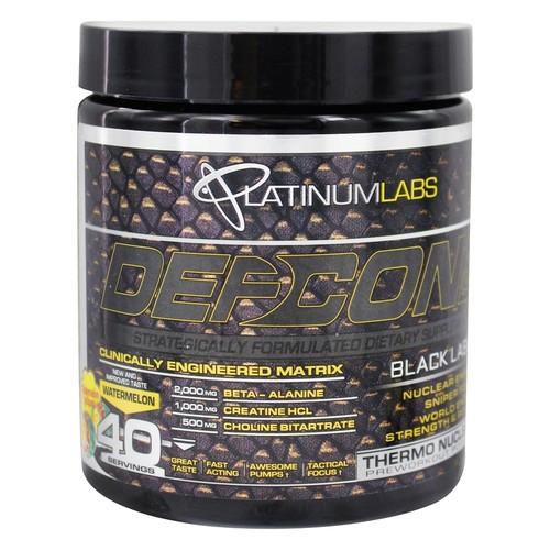Platinum Labs - DefCon1 Black Label Clinically Engineered Matrix ThermoNuclear PreWorkout Powder Watermelon Lollipop - 11.5 oz.
