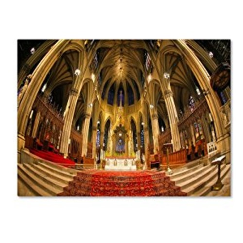 St. Patrick's by CATeyes, 14 by 19-Inch Canvas Wall Art [14 by 19-Inch]