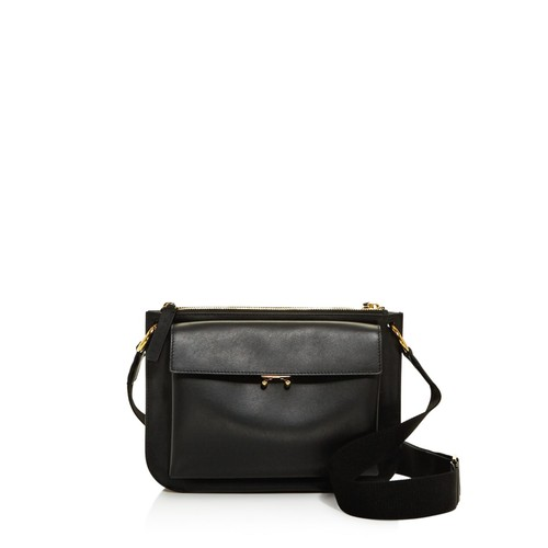 MARNI Trunk Color Block Leather Messenger