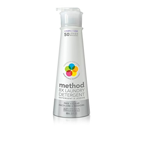 Method Laundry Detergent with Pump, Free + Clear, 20 Ounce, 50 Loads [Unscented]