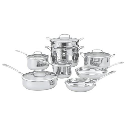 Cuisinart - 13-Piece Cookware Set - Stainless-Steel