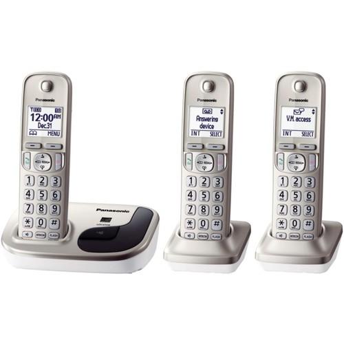 Panasonic Expandable Digital KX-TGD213N Cordless Phone; 3 Handset